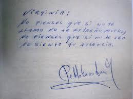 Carta de puño y letra de Pablo Escobar.