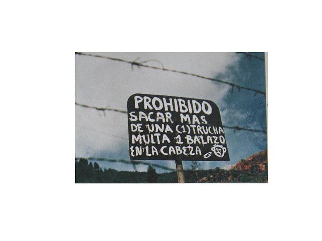 Cartel ubicado en La Catedral que deja en claro quién es el que mandaba allí (y en toda Colombia)
